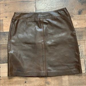 Vintage Company by Ellen Tracy Leather Skirt